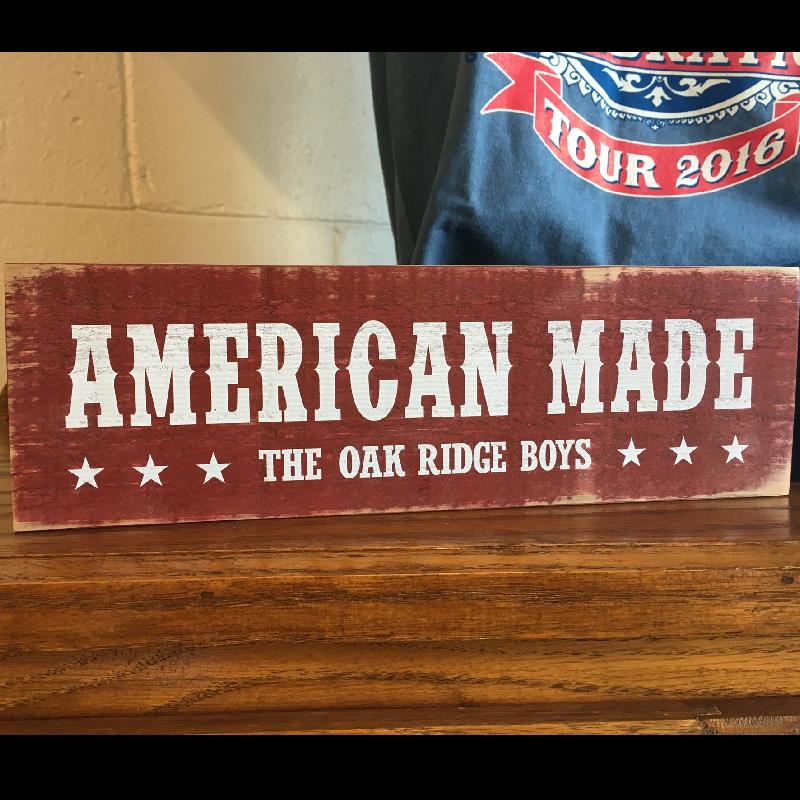 Oak Ridge Boys American Made Wooden Block