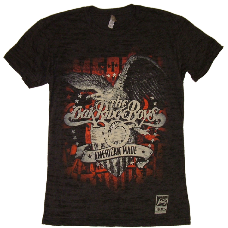 Oak Ridge Boys Unisex Black Burnout Tee