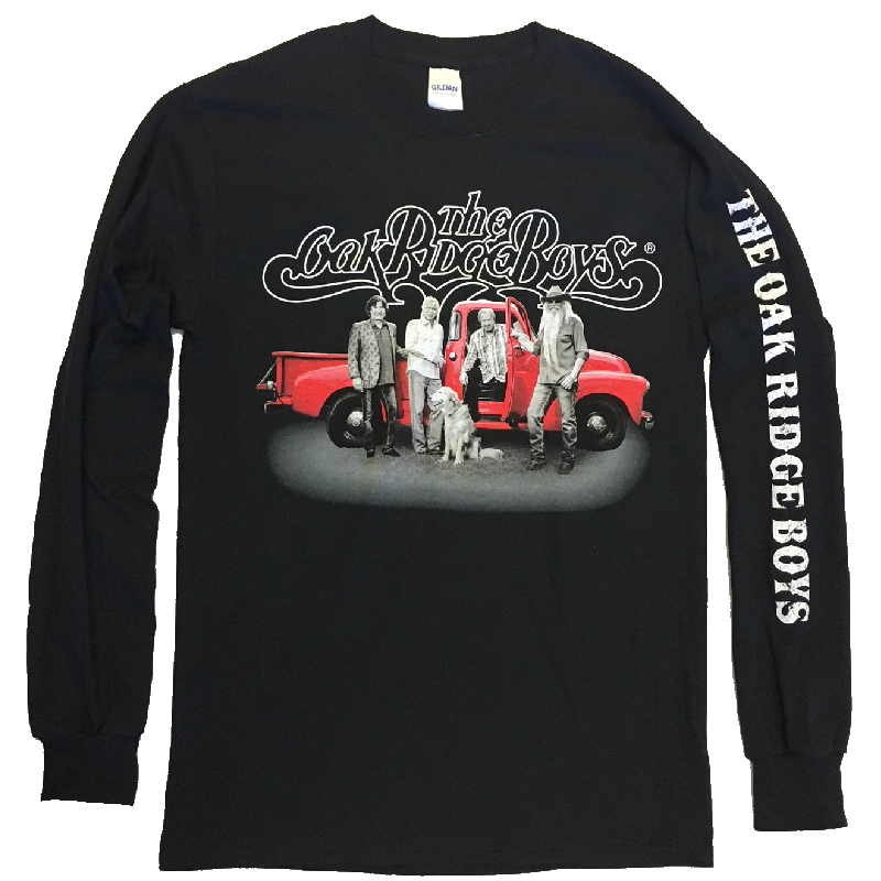 Oak Ridge Boys Long Sleeve Black Tee- Red Truck