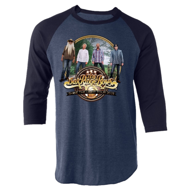 Oak Ridge Boys Denim and Navy Raglan Tee