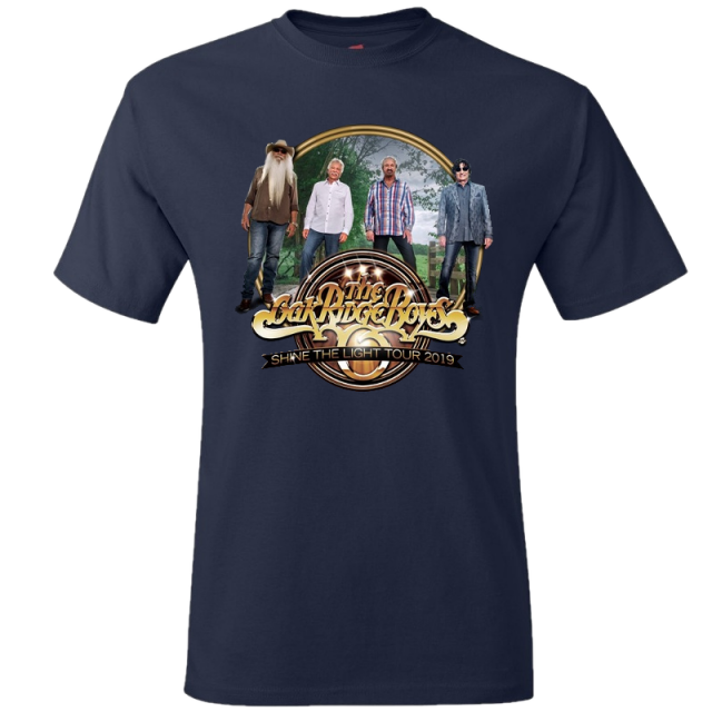 Oak Ridge Boys Navy Photo Tee