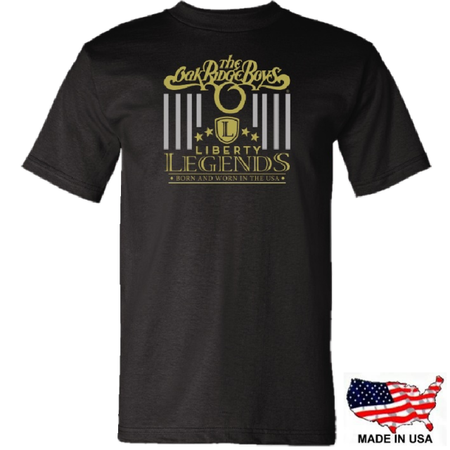 Oak Ridge Boys Black Tee- Liberty Legends