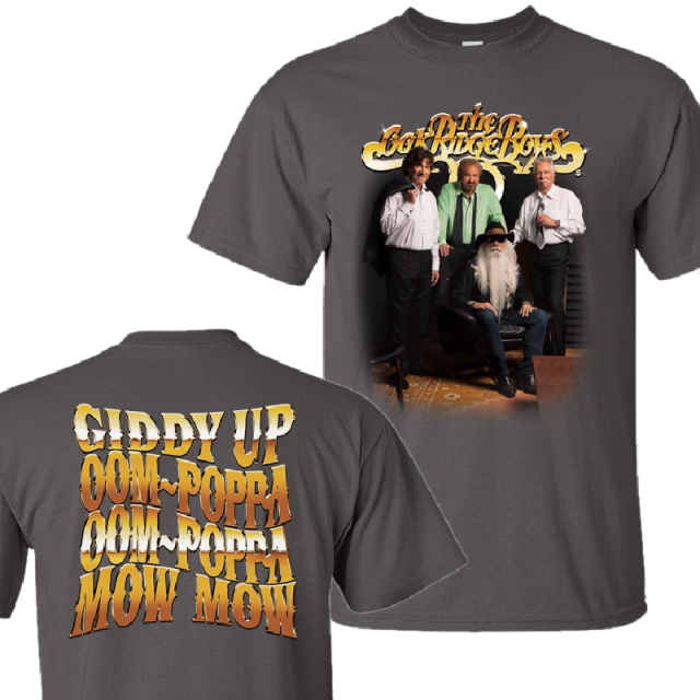 Oak Ridge Boys Charcoal Photo Tee